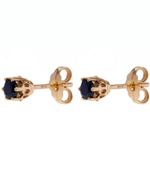 Sapphire Solitaire Stud Earrings