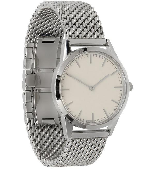 35mm Polished Steel Mesh Watch