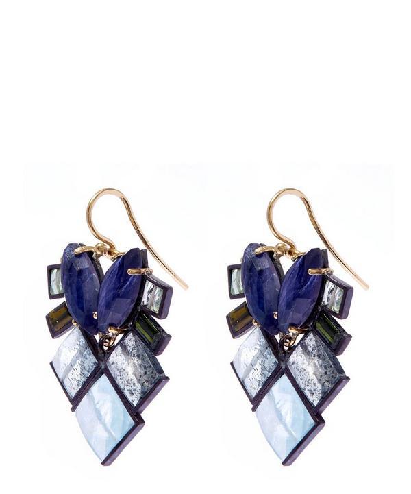 Gemstone Mosaic Drop Earrings