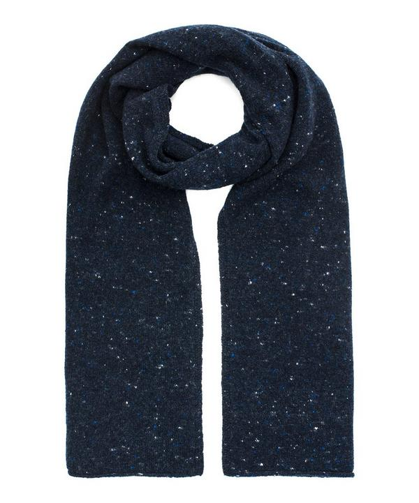 Soft Tweed Wool and Cashmere-Blend Scarf