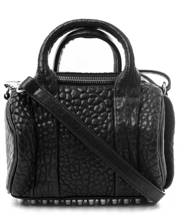 Mini Rockie Pebbled Cult Leather Cross Body Bag