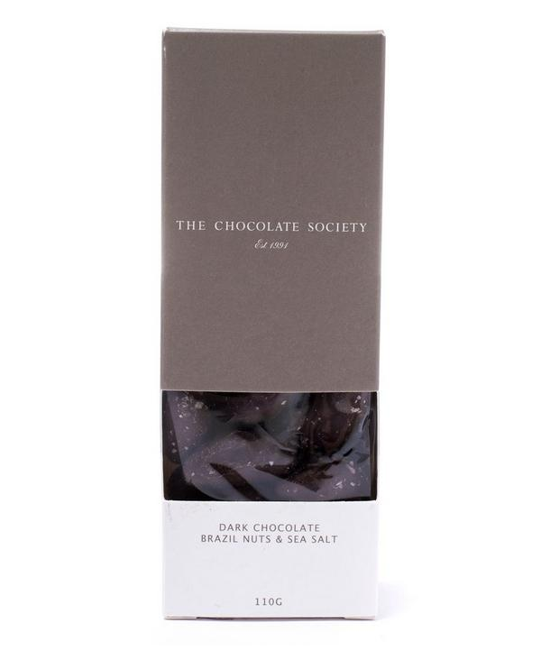 Dark Chocolate Covered Brazil Nuts and Sea Salt