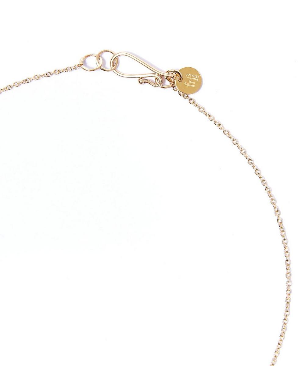 Small White Gold Drop Pendant Necklace