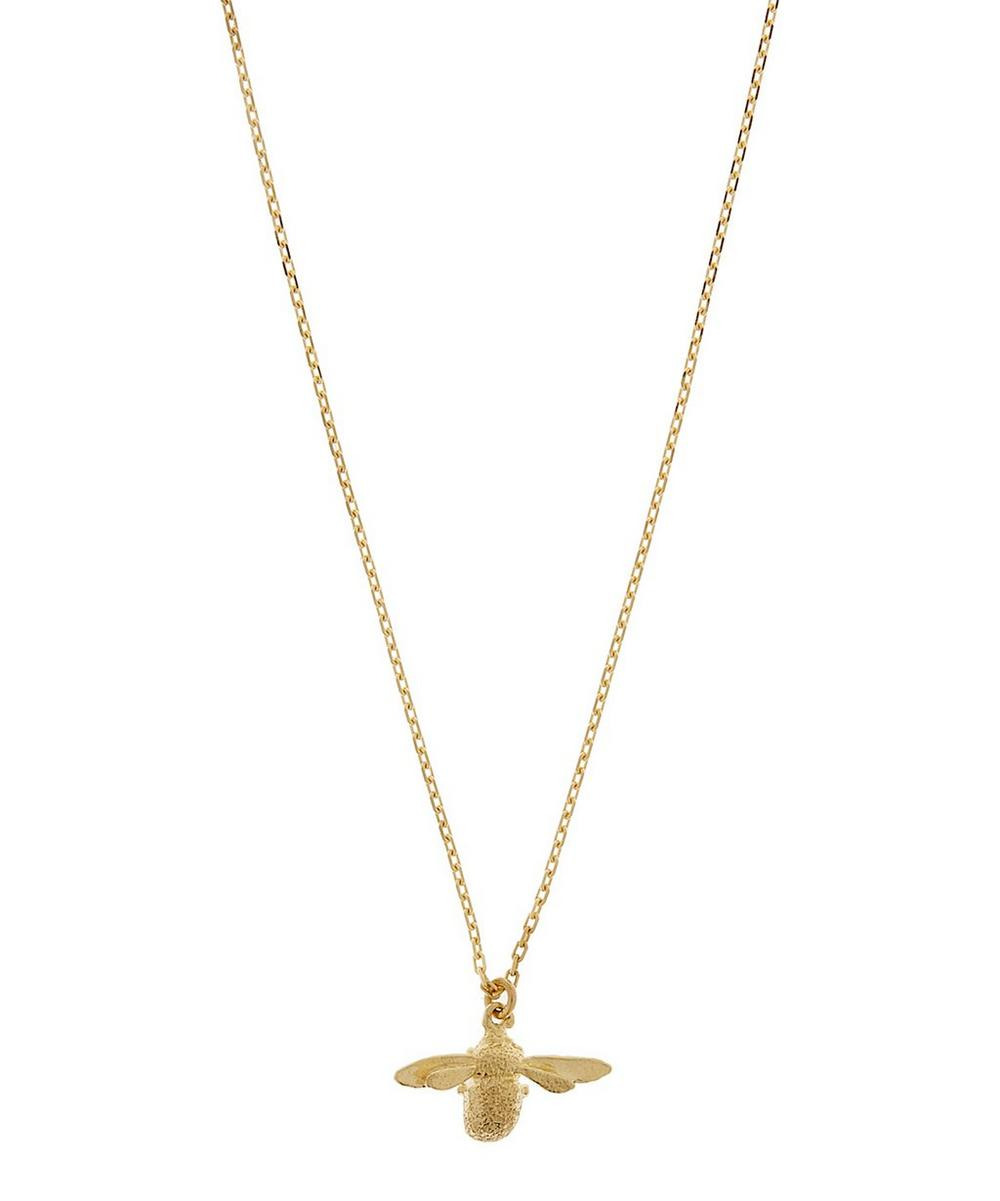 18ct Gold Teeny Tiny Bumblebee Fine Chain Necklace