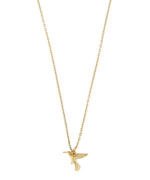 18ct Gold Teeny Tiny Hummingbird Fine Chain Necklace