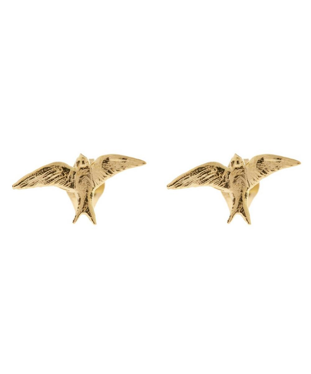 18ct Gold Teeny Tiny Swallow Stud Earrings