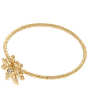 18ct Gold Diamond Teeny Tiny Daisy Ring