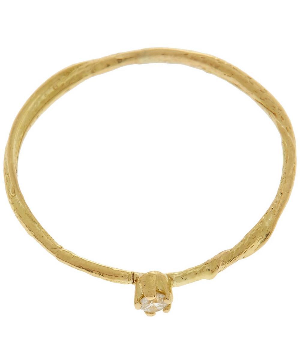 18ct Gold Diamond Teeny Tiny Ring