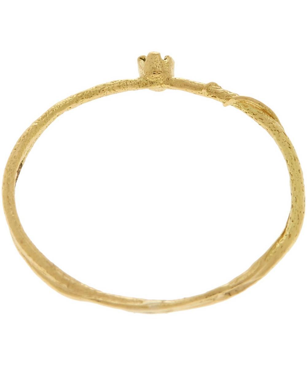 18ct Gold Aquamarine Teeny Tiny Ring