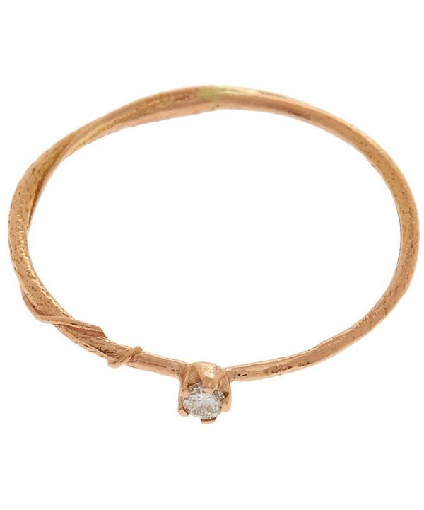 18ct Rose Gold Diamond Teeny Tiny Ring