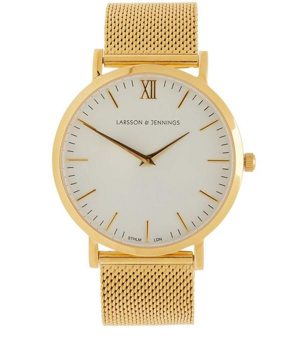 Gold-Plated Classic Chain Metal Watch
