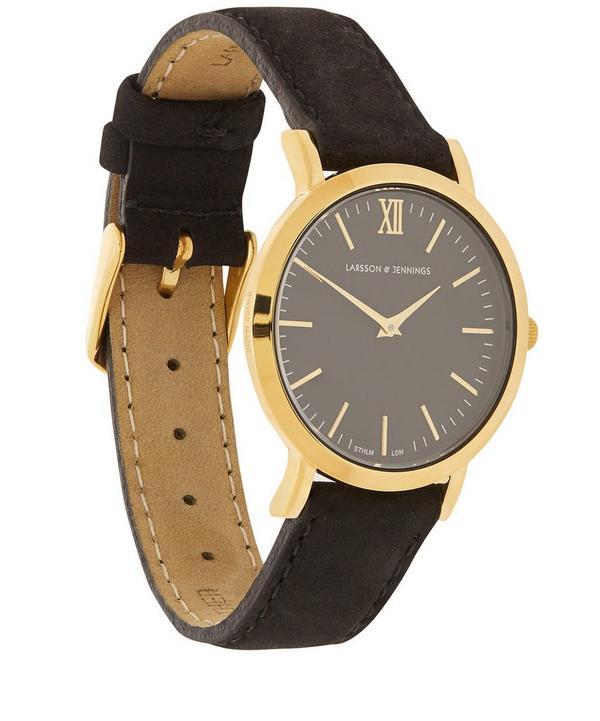 Liten Black and Gold Watch