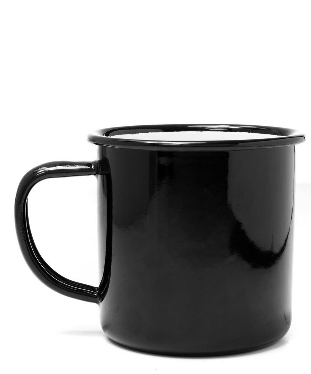Black Enamel Mug