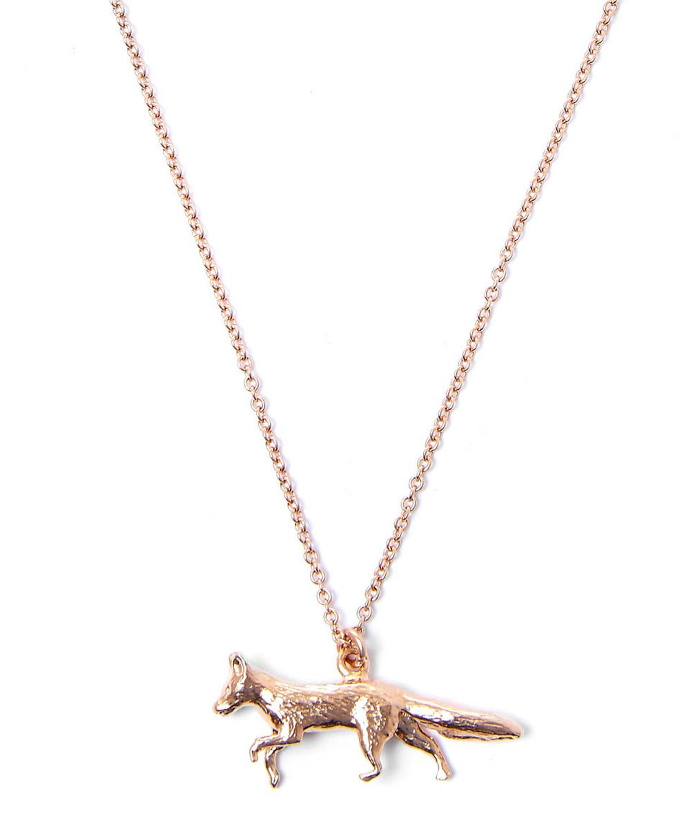 Gold-Plated Fox Necklace