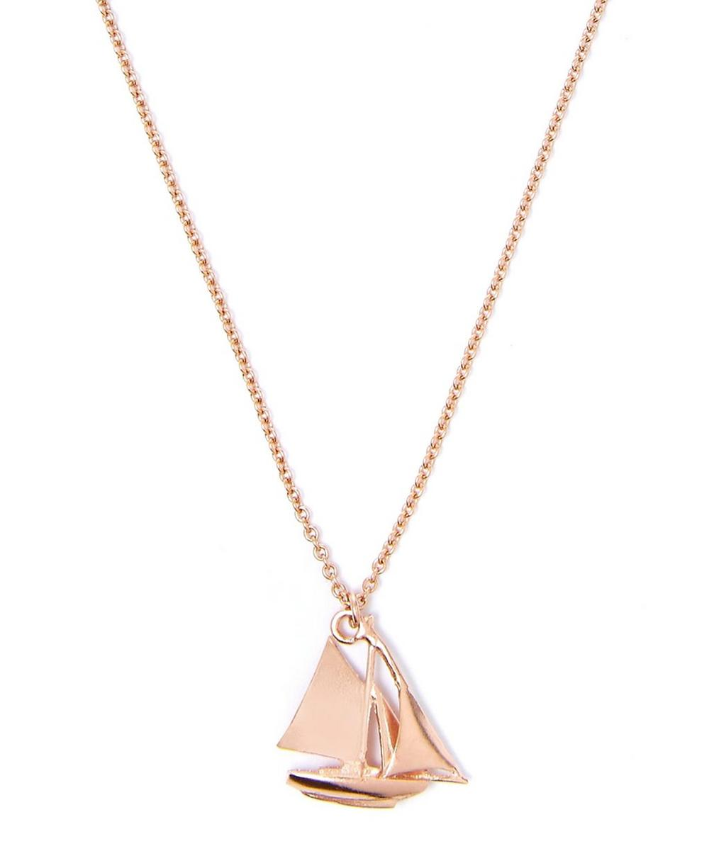 Gold-Plated Boat Necklace