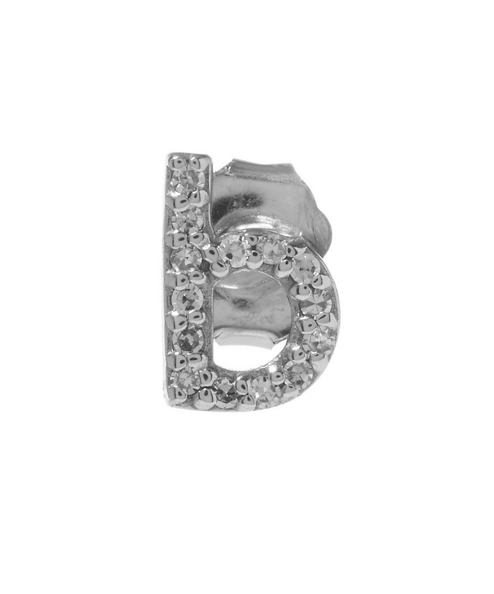 Rose Gold Diamond B Single Stud Earring
