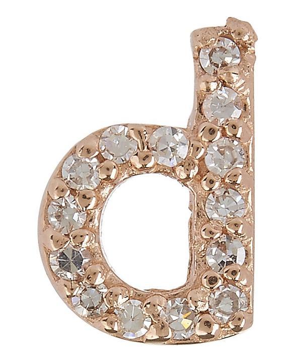 Diamond D Stud Earring