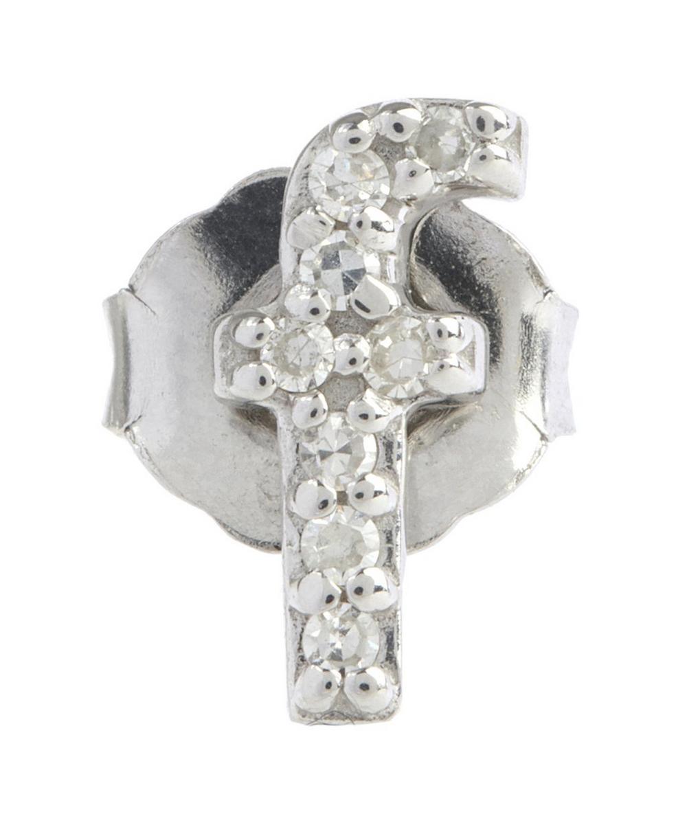 Diamond F Single Stud Earring