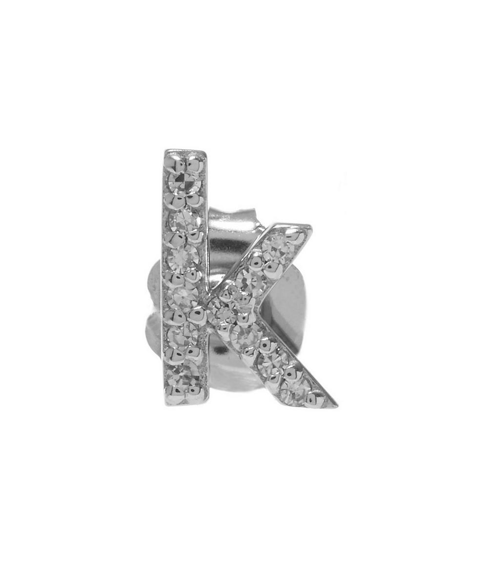 Rose Gold Diamond K Single Stud Earring