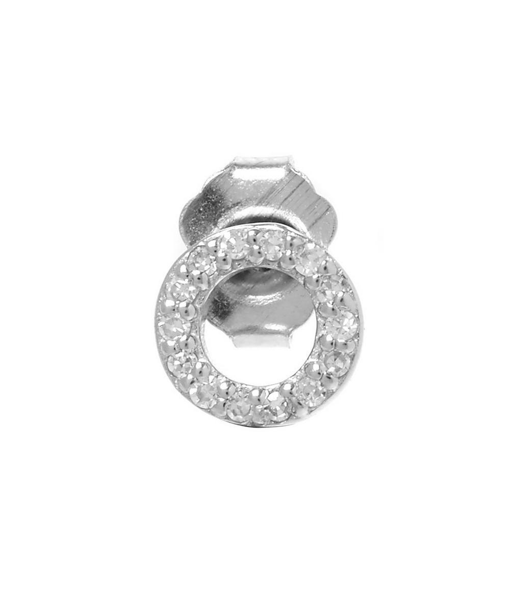 Rose Gold Diamond O Single Stud Earring