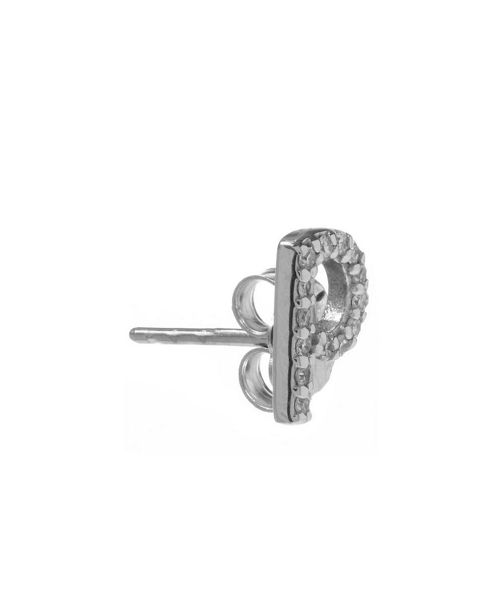 Rose Gold Diamond P Single Stud Earring