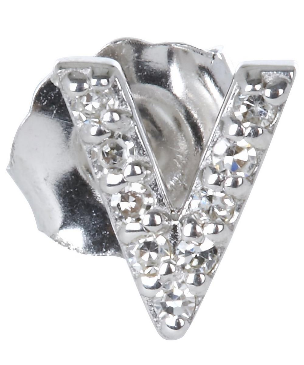 Diamond V Single Stud Earring