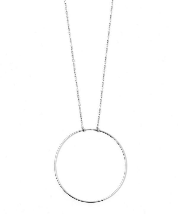 Silver Long Monocle Necklace