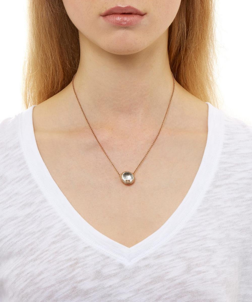 Gold Topaz Olivia Button Necklace