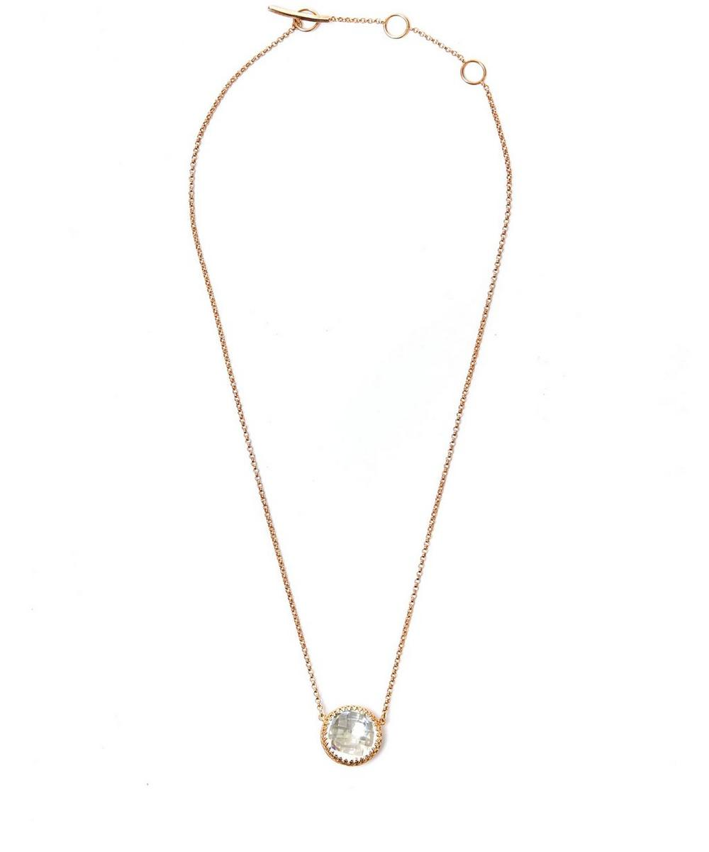 Gold Topaz Olivia Button Necklace