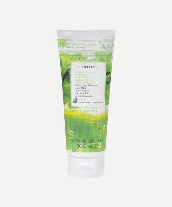 Basil Lemon Body Milk 200ml