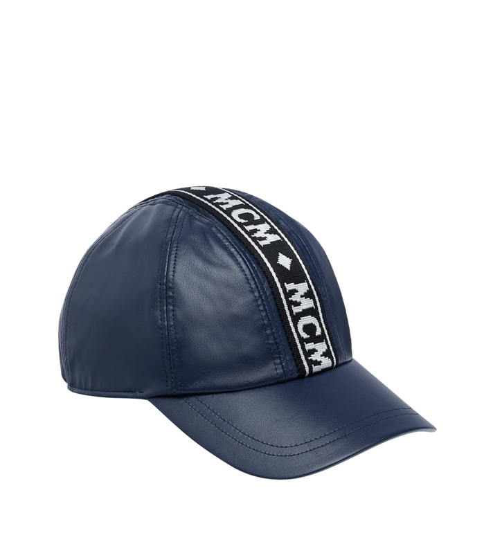 LOGO TAPE CAP IN NAPPA LEATHER