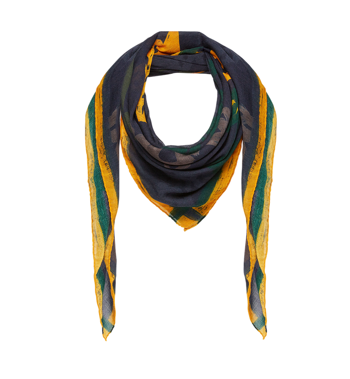 MCM Allover Logo Print Scarf in Wool MEF7AMM09VY001 AlternateView