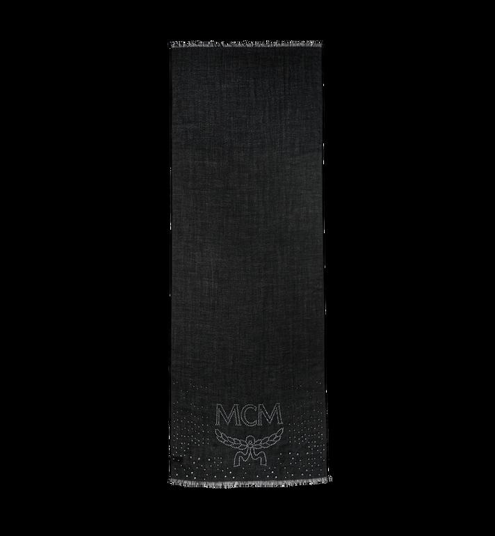 MCM Logo Cashmere Stole MEF8AMM14BK001 AlternateView2