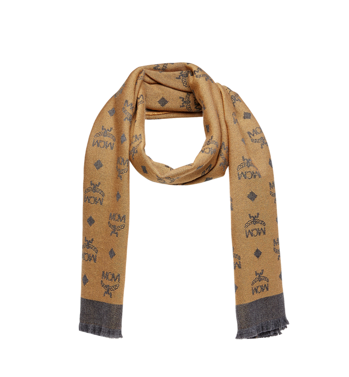 MCM Monogram Jacquard Wool Stole MEF8AMM16CO001 AlternateView1