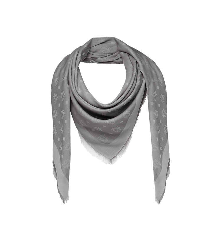 MCM Écharpe carrée en coton léger soie et laine MEF8SMM03EI001 AlternateView