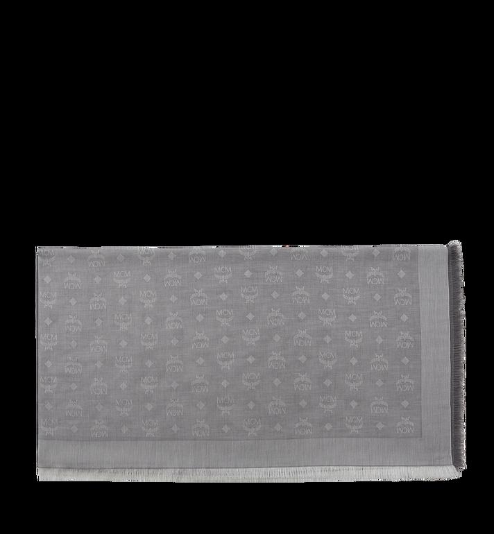 MCM Écharpe carrée en coton léger soie et laine MEF8SMM03EI001 AlternateView2