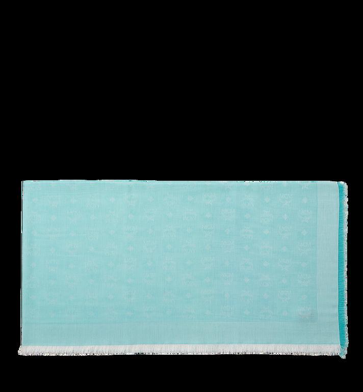 MCM Lightweight Cotton Square Scarf in Silk Wool MEF8SMM03HS001 AlternateView2