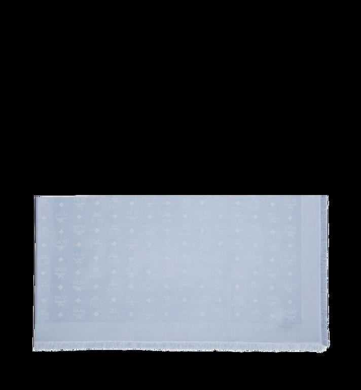 MCM Jacquard-Schal aus Seide und Wolle mit Monogramm MEF9SMM01FB001 AlternateView2