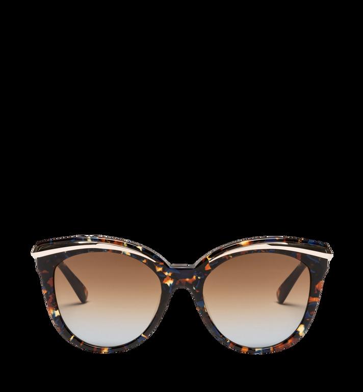One Size Cat-Eye-Sonnenbrille mit Goldrahmen Blue