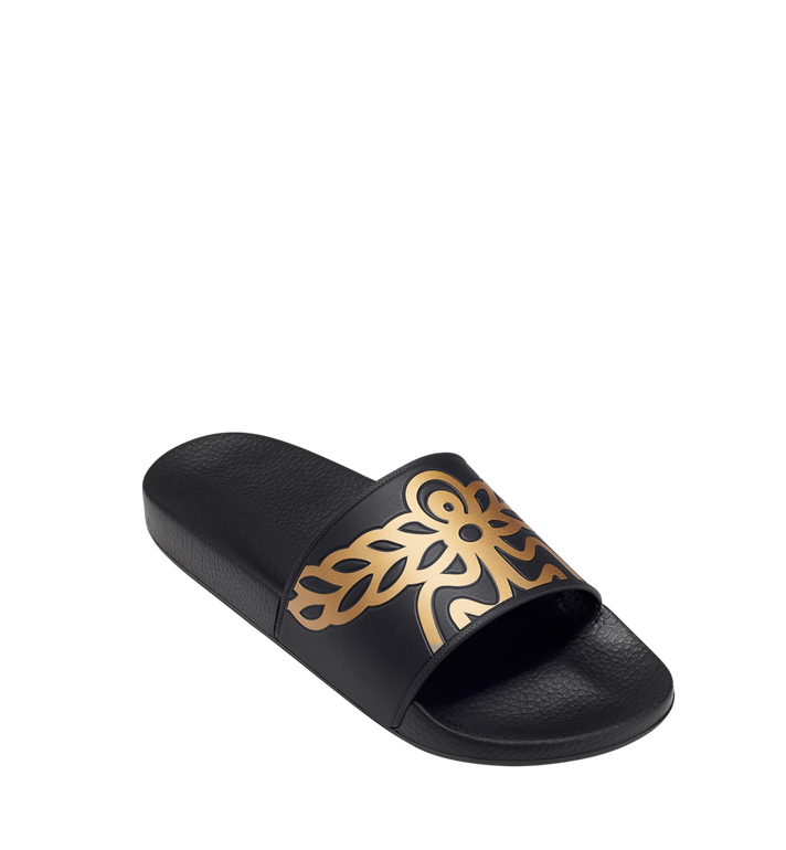 MCM Women's Rubber Slides MES7AMM02BK040 AlternateView