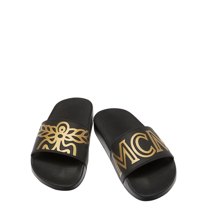 MCM Women's Rubber Slides MES7AMM02BK040 AlternateView4
