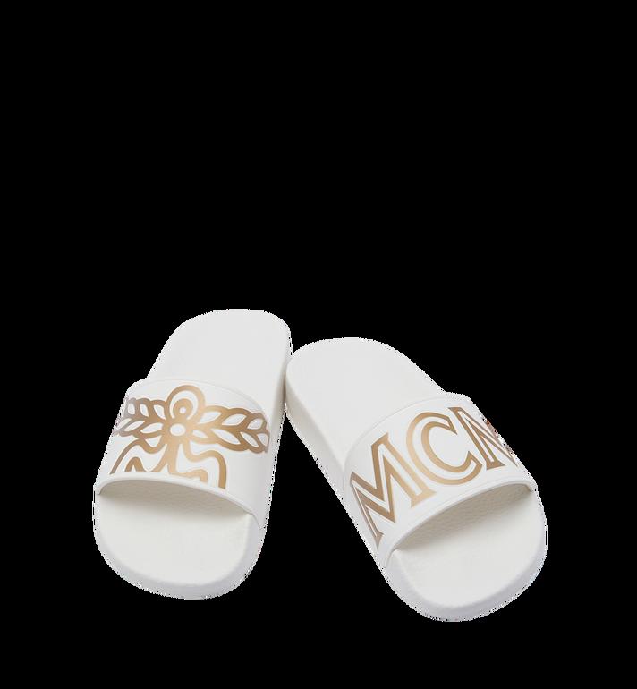 MCM Women's Slides in Rubber MES7AMM02WT036 AlternateView4