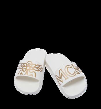 MCM Claquettes en caoutchouc pour femme MES7AMM02WT036 AlternateView4