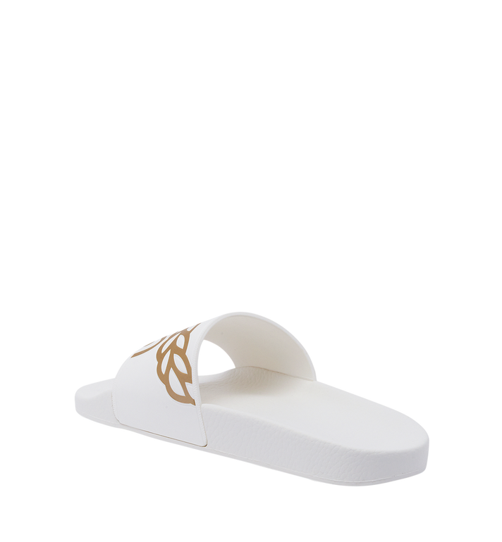 MCM Women's Slides in Rubber MES7AMM02WT040 AlternateView2