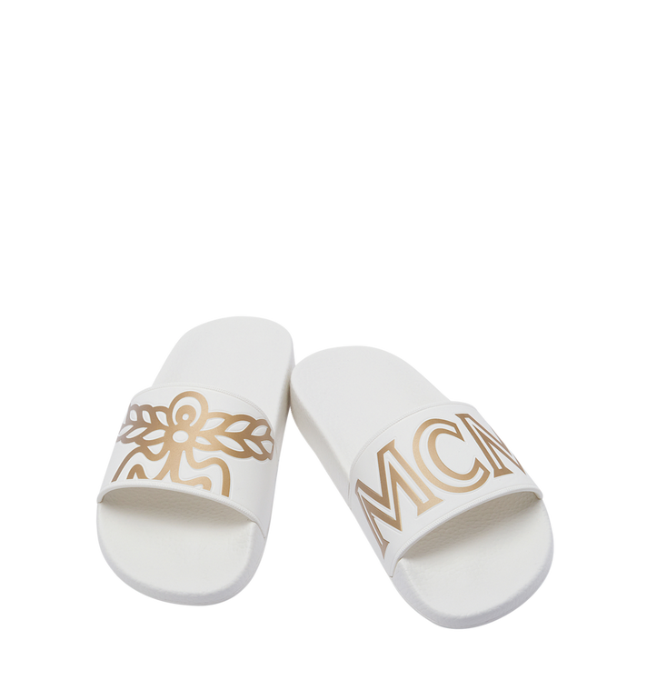 MCM Women's Slides in Rubber MES7AMM02WT040 AlternateView4