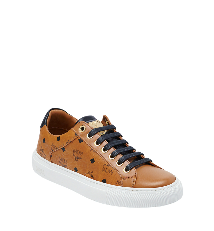 MCM Women's Low Top Classic Sneakers in Visetos MES7AMM03CO037 AlternateView