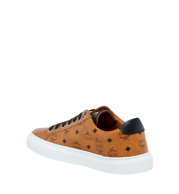 MCM Women's Low Top Classic Sneakers in Visetos MES7AMM03CO037 AlternateView2