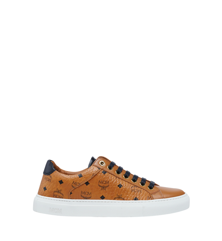 MCM Women's Low Top Classic Sneakers in Visetos MES7AMM03CO037 AlternateView3