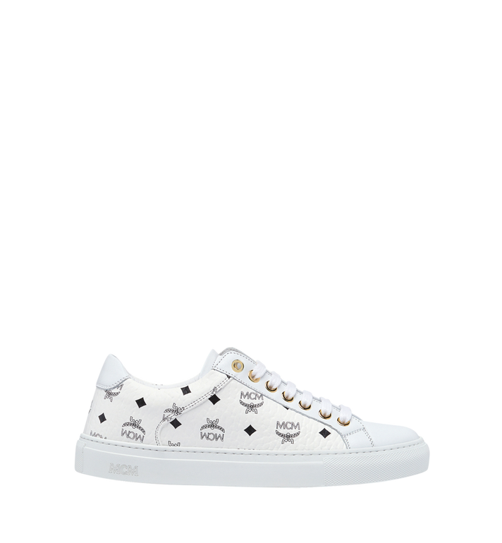MCM Women's Low Top Classic Sneakers in Visetos MES7AMM03WT036 AlternateView3