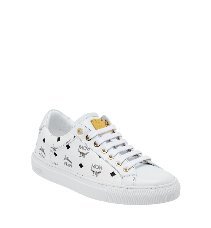 MCM Women's Low Top Classic Sneakers in Visetos MES7AMM03WT040 AlternateView